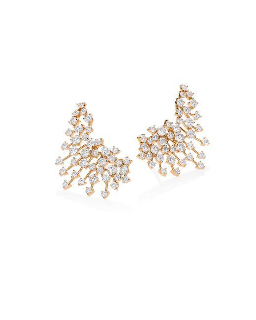 Hueb - Metallic Luminus Diamond & 18k Yellow Gold Ear Cuffs - Lyst