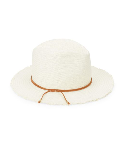 Hat Attack - White Packable Fringed Racher Hat - Lyst