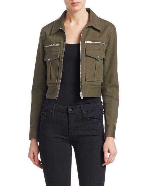 Rag & Bone - Green Zipped Military Jacket - Lyst