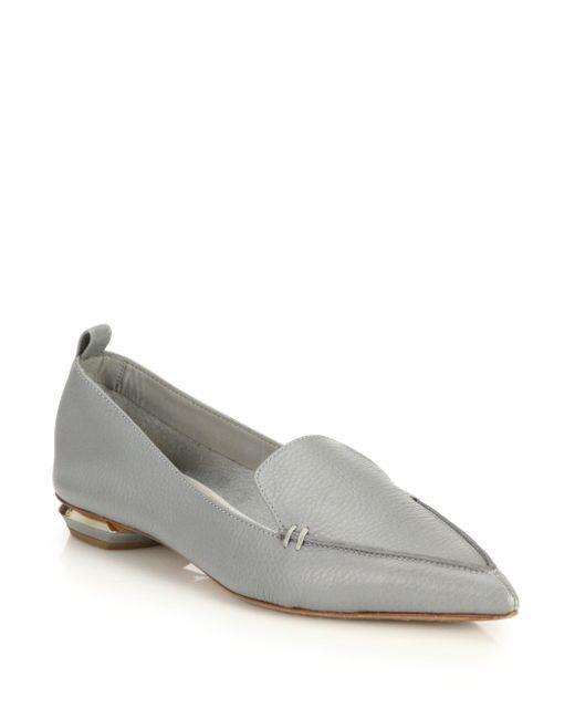Nicholas Kirkwood - Gray Beya Leather Loafers - Lyst