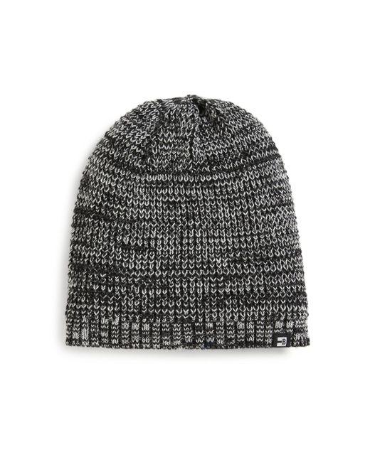 Block Headwear - Black Marled Knit Beanie for Men - Lyst