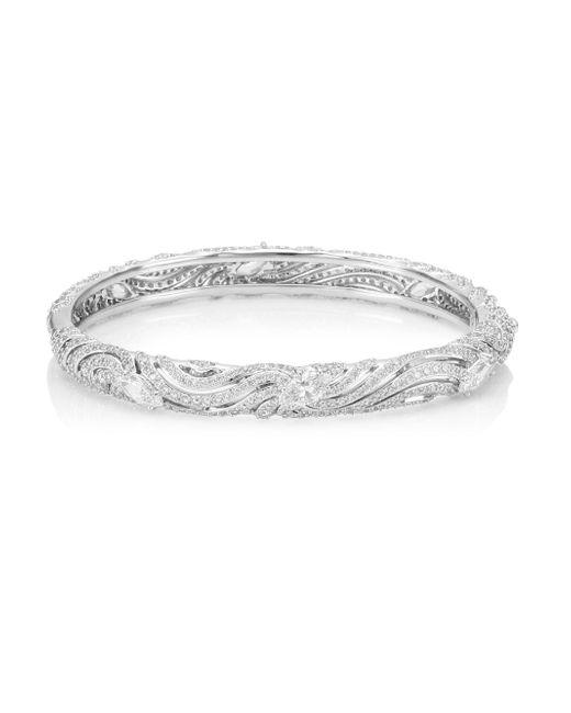 Adriana Orsini - Metallic Crystal Hinge Bracelet - Lyst