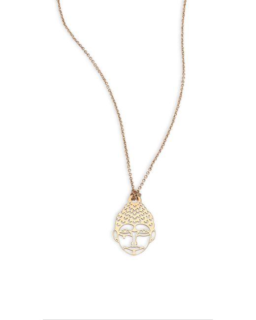 Ginette NY - Metallic 18k Rose Gold Mini Buddha Pendant Necklace - Lyst