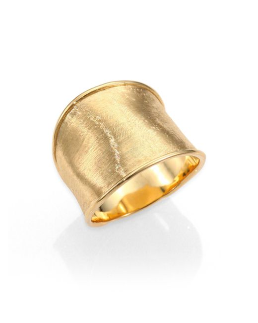 Marco Bicego | Metallic Lunaria 18k Yellow Gold Medium Band Ring | Lyst
