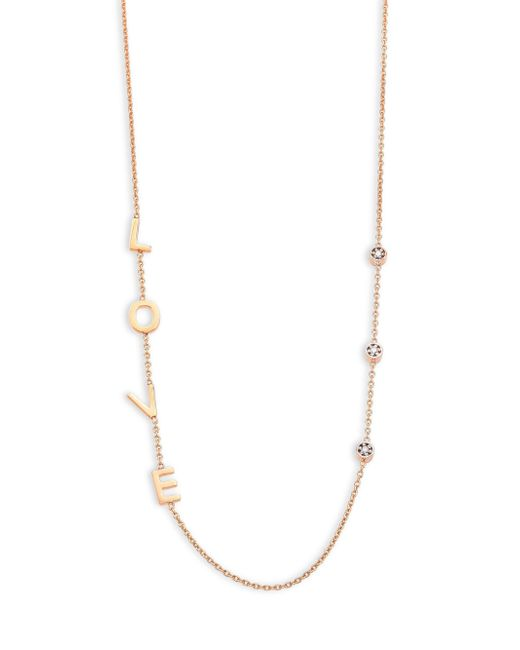 Kismet by Milka | Metallic Love Diamond & 14k Rose Gold Necklace | Lyst