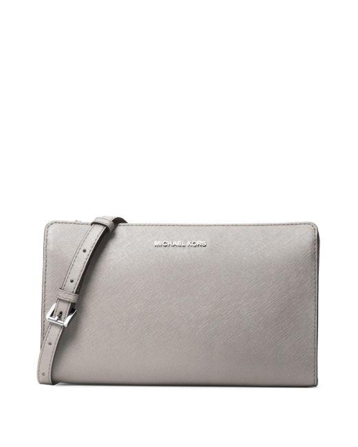 MICHAEL Michael Kors - Gray Leather Crossbody Bag - Lyst