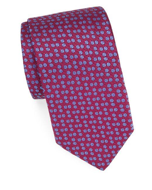 Charvet - Red Neat Silk Tie for Men - Lyst