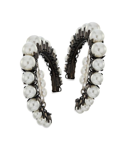 Erickson Beamon | Black Solidarity Faux-pearl Hoop Earrings | Lyst