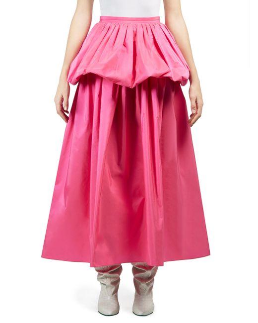 Stella McCartney - Pink Taffeta Ruffle Maxi Skirt - Lyst