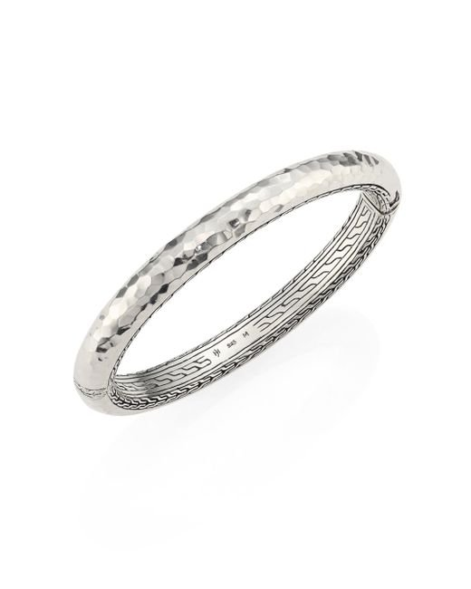 John Hardy - Metallic Classic Chain Medium Hammered Sterling Silver Bangle - Lyst