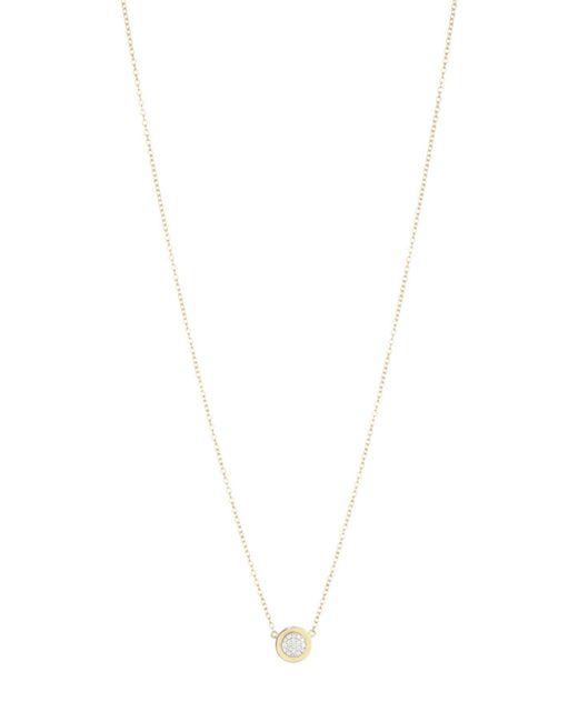 Phillips House Metallic 14k Yellow Gold & Diamond Micro Infinity Plate Necklace