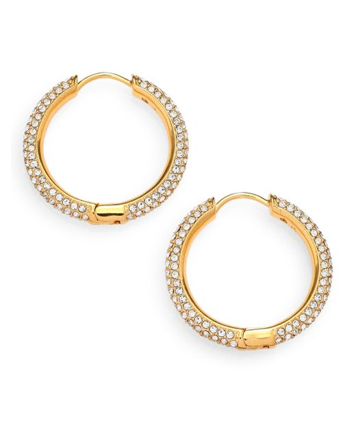 Adriana Orsini | Metallic Pave Hoop Earrings/0.8 | Lyst