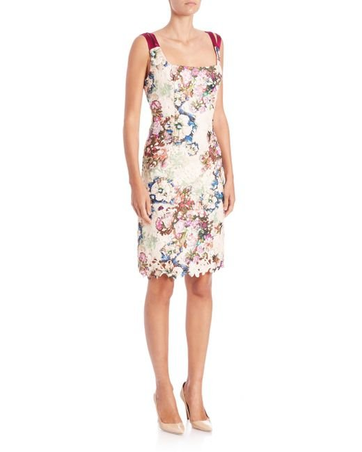 Randi Rahm | Multicolor Doris Floral Print Lace Dress | Lyst