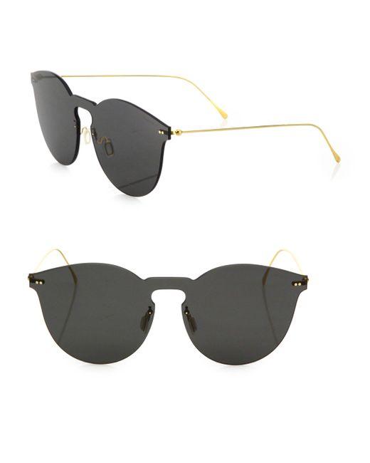 Illesteva - Gray Leonard Ii Mask 50mm Round Sunglasses - Lyst