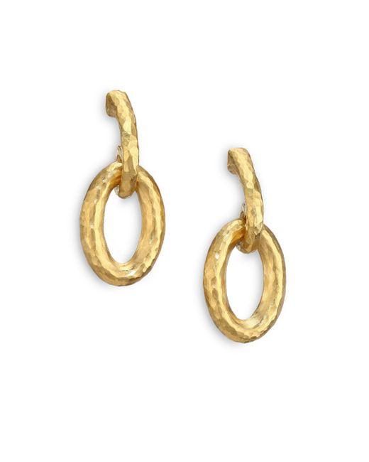 Gurhan - Metallic Hoopla 24k Yellow Gold Galahad Drop Hoop Earrings - Lyst