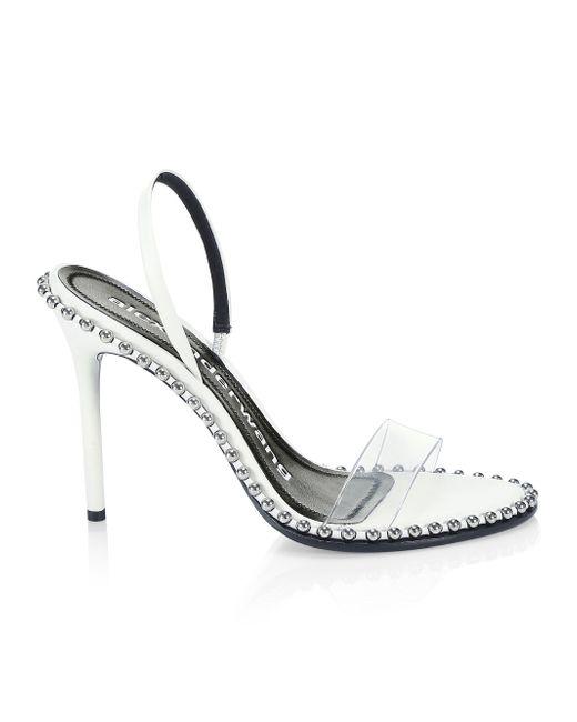 26238bde695 Alexander Wang - White Studded Sandals - Lyst ...
