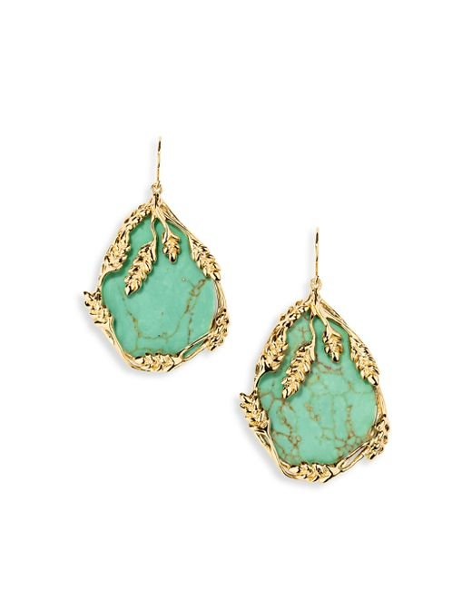 Aurelie Bidermann | Blue Francoise Turquouise Drop Earrings | Lyst