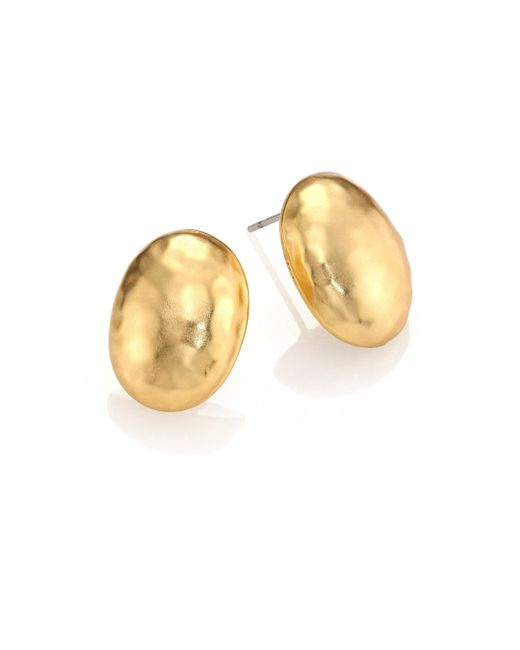 Stephanie Kantis - Metallic Nugget Medium Oval Earrings - Lyst