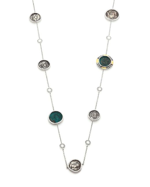 Coomi | Metallic Coin Diamond, Crystal, 20k Yellow Gold & Sterling Silver Station Necklace | Lyst