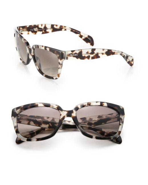 Prada | Brown Chunky 56mm Square Sunglasses | Lyst