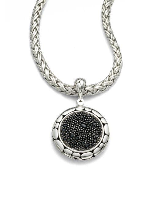 John Hardy - Metallic Kali Black Sapphire & Sterling Silver Lava Enhancer - Lyst