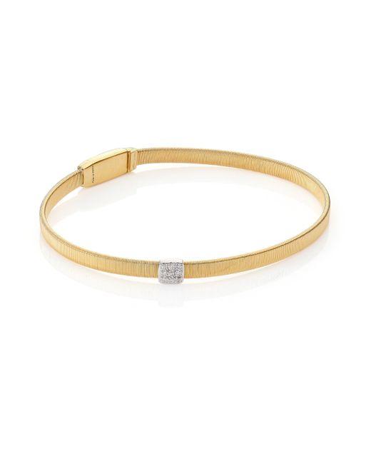 Marco Bicego | Metallic Masai Diamond, 18k Yellow Gold & 18k White Gold Bracelet | Lyst