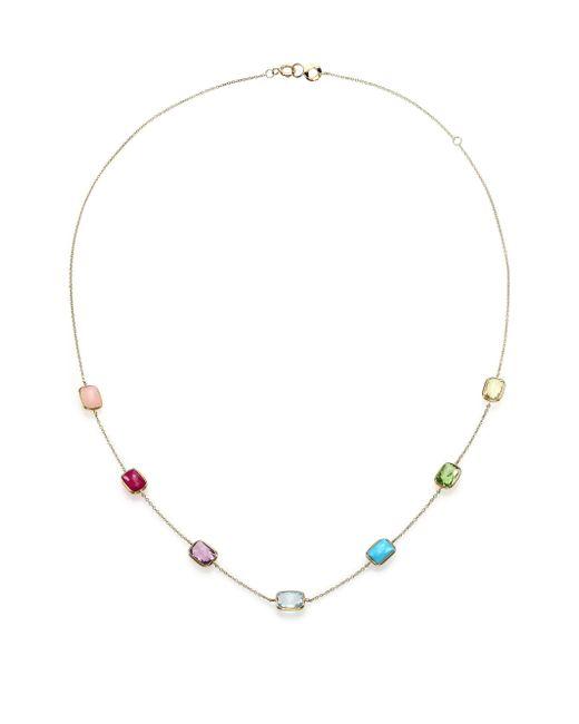 Ippolita | Metallic Rock Candy Summer Rainbow Semi-precious Multi-stone & 18k Yellow Gold Mini Gelato Station Necklace | Lyst