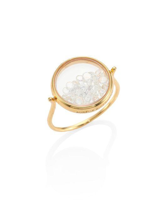 Aurelie Bidermann - Metallic Diamond & 18k Yellow Gold Chivor Ring - Lyst
