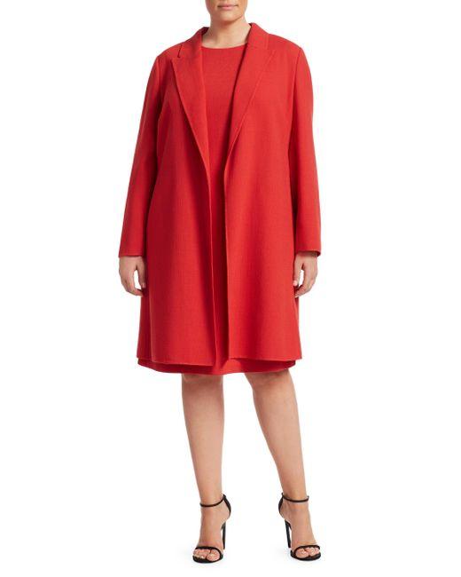Lafayette 148 New York - Red Plus Nouveau Crepe Carmelle Jacket - Lyst