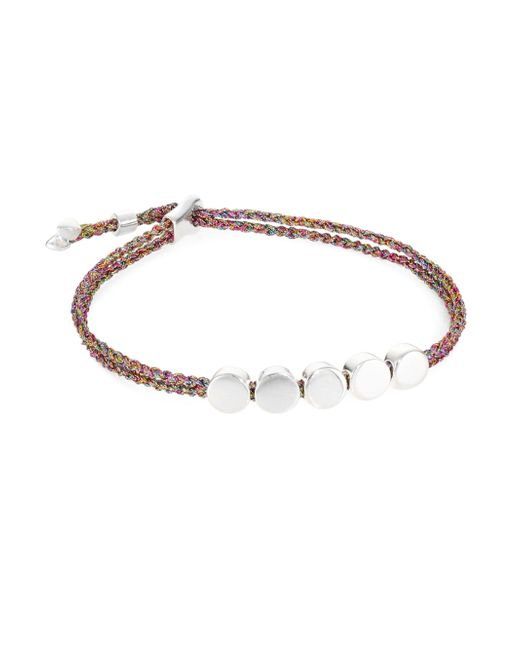 Monica Vinader - Metallic Linear Bead Friendship Bracelet/rainbow - Lyst