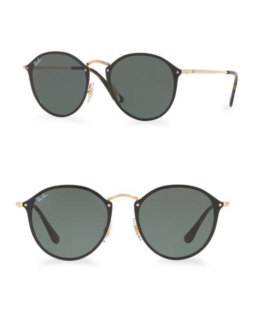 Ray-Ban - Green 59mm Blaze Round Sunglasses - Lyst