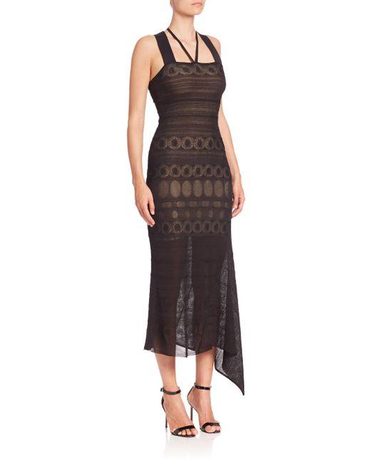 Roland Mouret | Black Stevan Asymmetric Dress | Lyst