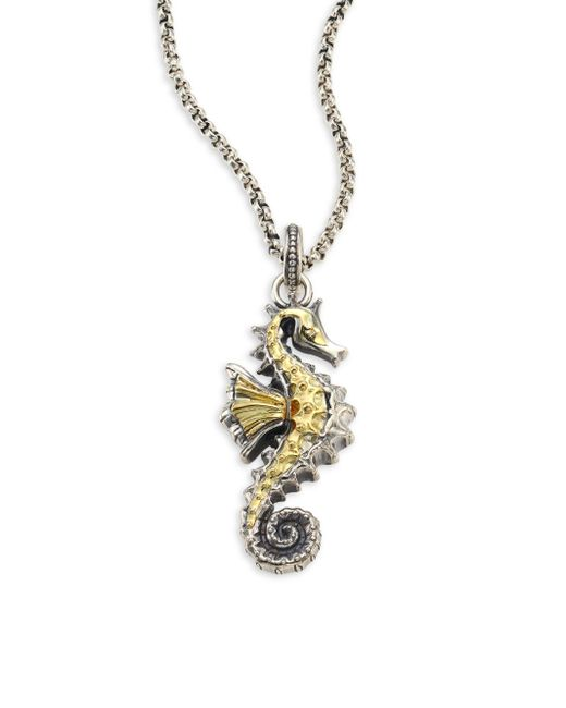 Konstantino | Metallic Gaia Sea Horse Pendant | Lyst