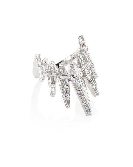 Nikos Koulis | Metallic Spectrum Diamond & 18k White Gold Ring | Lyst