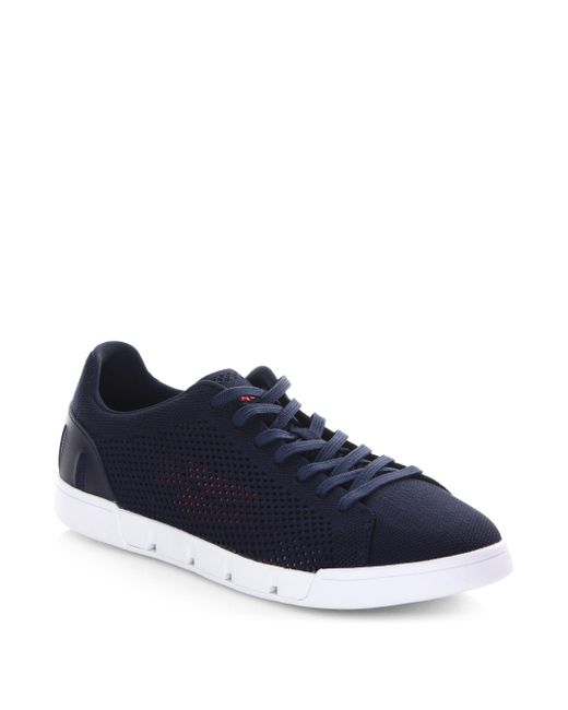 Swims - Blue Tennis Cupsole Leather Sneakers for Men - Lyst