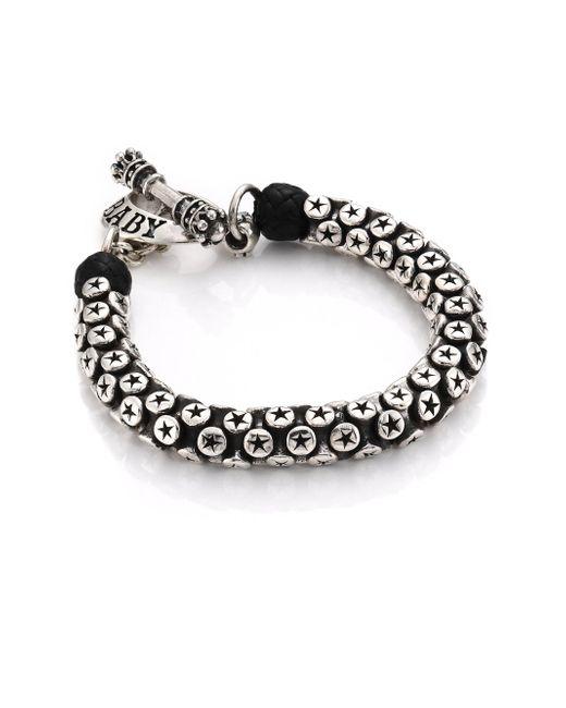 King Baby Studio - Metallic Star Tri-bead Bracelet for Men - Lyst