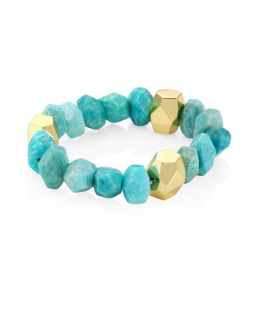 Nest | Blue Amazonite Stretch Bracelet | Lyst