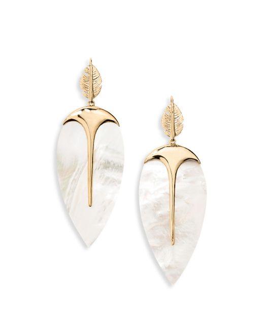 Aurelie Bidermann | Metallic Talitha Mother-of-pearl Drop Earrings | Lyst