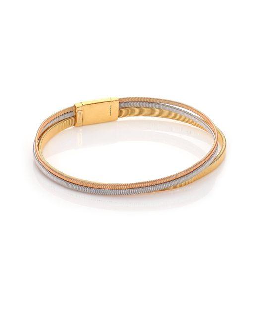 Marco Bicego   Metallic Masai 18k Yellow Gold, 18k White Gold & 18k Rose Gold Multi-row Bracelet   Lyst