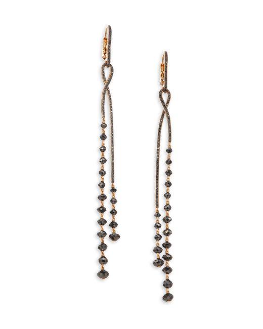 Etho Maria - Metallic Leyla 18k Rose Gold 11.30 Tcw Black Diamond Twist Earrings - Lyst