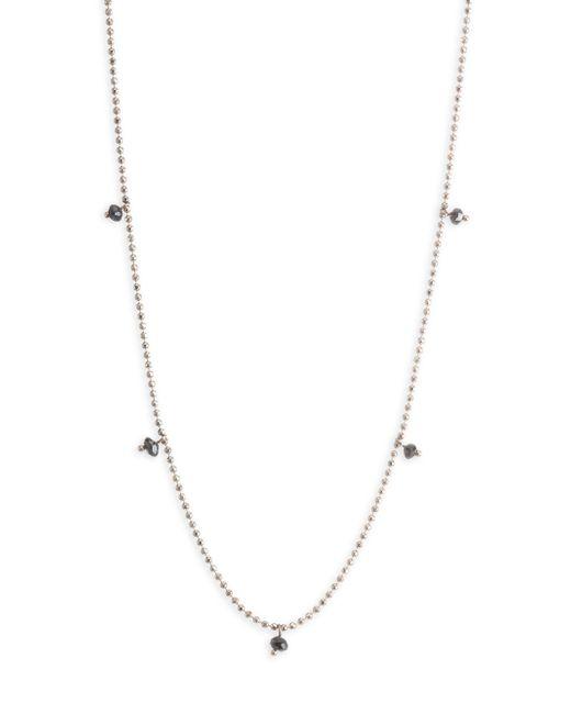 Kismet by Milka - Metallic Black Diamond Ball Chain Necklace - Lyst