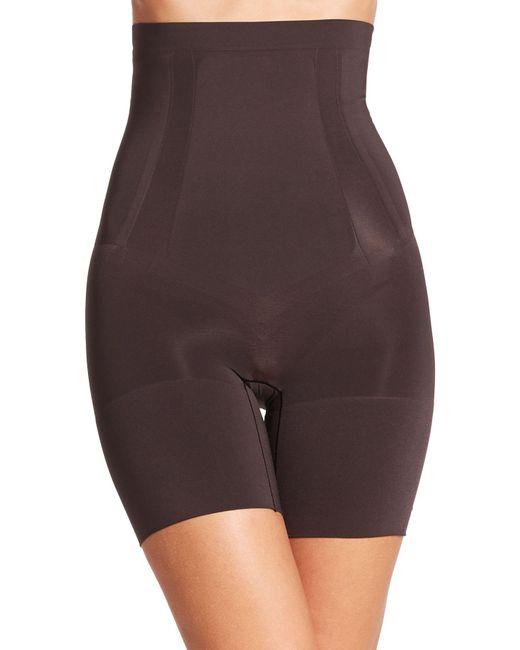 Spanx Black Oncore High-waist Mid-thigh Shorts