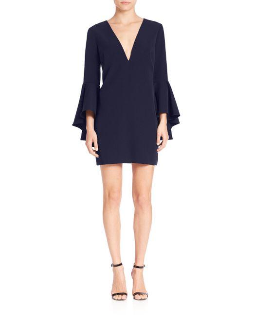 MILLY | Blue Italian Cady Nicole Bell Sleeve Dress | Lyst