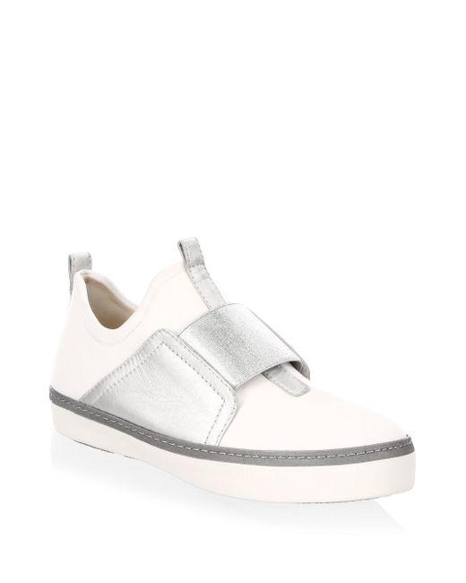 Stuart Weitzman - White Wayfare Leather Sneakers - Lyst