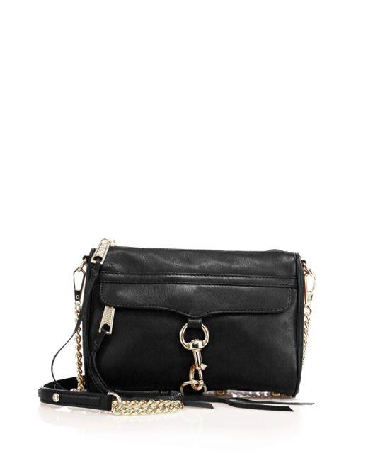 Rebecca Minkoff - Black Mini Mac Leather Crossbody Bag - Lyst