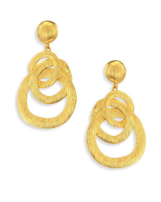 Nest   Metallic Chain Link Drop Earrings   Lyst