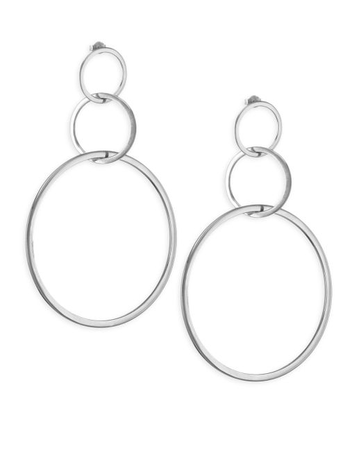 Jennifer Zeuner | Metallic Moore Sterling Silver Hoop Earrings | Lyst