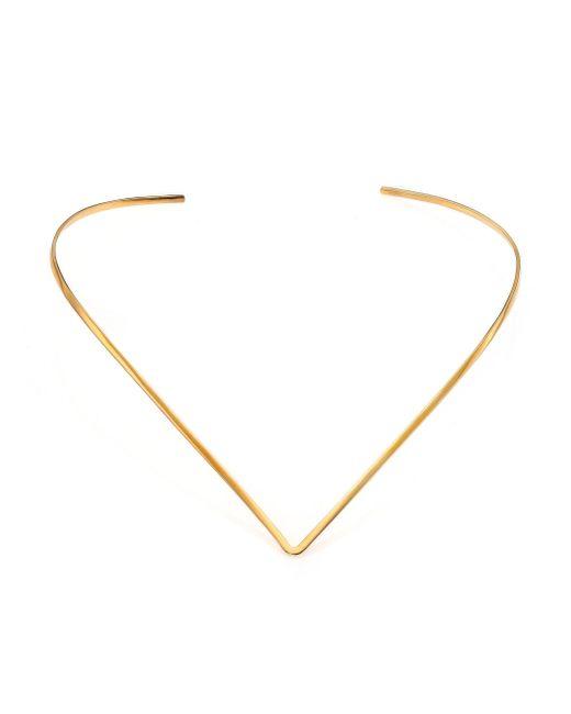 Jennifer Zeuner - Metallic Tilda V Choker Necklace - Lyst