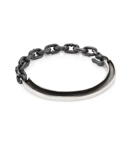 King Baby Studio - Metallic Sterling Silver Rail Id Bracelet - Lyst
