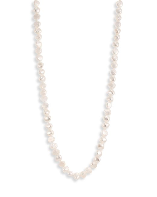 Kenneth Jay Lane | 7mm White Baroque Cultured Freshwater Pearl Long Strand Necklace/48 | Lyst